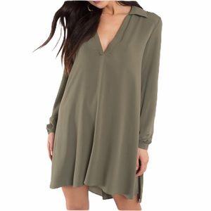 Tobi Olive Hi Lo Dress